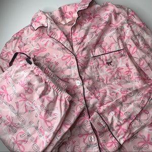 Victoria's Secret flannel pajama set top pants M